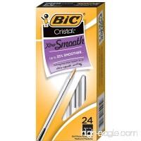 BIC Cristal Xtra Smooth Ballpoint Pen  Medium Point (1.0mm)  Black  24-Count - B018UE2ORY