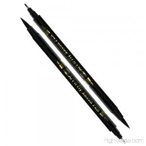 2 Dual Tip Black Brush Pens for Lettering Calligraphy Pen. Fine and Large Black Brush Marker for Drawing - B0788DDN9B