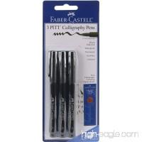 Faber-Castel PITT Calligraphy Pens Chisel Tip  2.5mm  Black  3-Pack - B000I5HPJ6