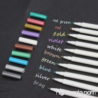 Metallic Marker Pens Set of 10 Colors Metallic Color Painting Pen for Birthday Greeting Gift Valentine's Day Cards Thank You Card DIY Scrapbook Photo Album - B07B2PB8MN