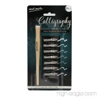 Mont Marte 7 Nib Calligraphy Set 8 Piece. Includes 7 Nibs and 1 Lacquered Wooden Handle. Suitable for All Calligraphic Writing Styles. - B075WY74Y2