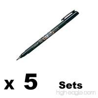 Tombow Fude Brush Pen Fudenosuke Soft (GCD-112)×5sets - B00VYAGCG6