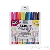 Tulip I Love To Create 26662 Fabric Markers 12/Pkg-Fine Tip - B003Z6HTEQ