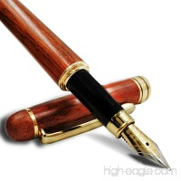Wood pen  Handcrafted Vintage Fountain Pen  Elegant Wood Fountain Pen with Ink Refill Converter - Best Signature Calligraphy Pen Executive Business Pens -18-Month Hassle-Free Warr (wood fountain pen) - B07998WDLY