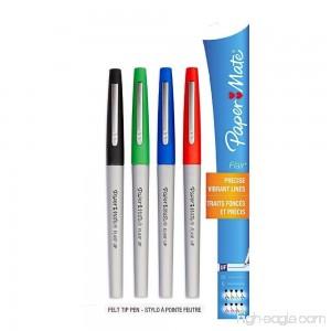 Paper Mate Flair Felt Tip Pen Ultra Fine Point Core Colors 4 Count - B076LWZH4B