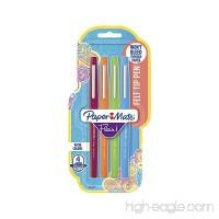 Paper Mate Flair Felt Tip Pens  Medium Point (0.7mm)  Assorted Colors  4 Count - B001CDCWQE