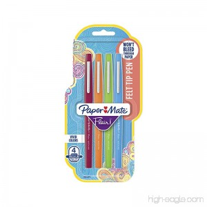 Paper Mate Flair Felt Tip Pens Medium Point (0.7mm) Assorted Colors 4 Count - B001CDCWQE