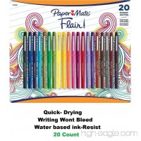 Paper Mate Flair Pens  Assorted Colors  20 - B00W7HX7W2