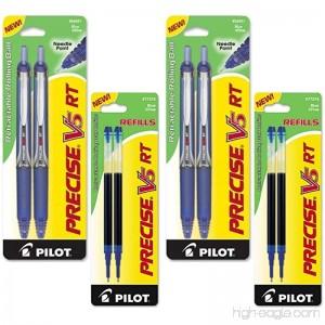 Pilot Precise V5 RT Retractable Rolling Ball Pens Extra Fine Point Black Ink 6 Pens (4-Pack/Bundle Blue) - B07DF9K89X