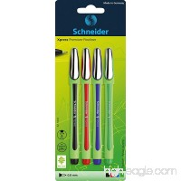 Schneider Fineliner pens  0.8  Blister Pack of 4 Crayons-Assorted Colours - B004FQVNVA