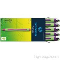 Schneider Xpress Fine Liner 0.8mm Porous Point Pen Purple Box of 10 (190008) - B00J3TX3YO