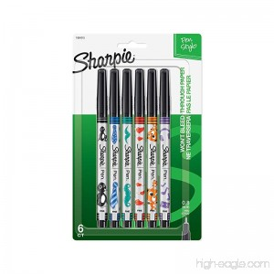 Sharpie Pen Fine Point 6-Pack Assorted Colors (1924215) - B00UHJC8SG