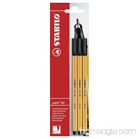 STABILO B-14828-10point 88 Fineliner - Red/Blue/Black (Blister of 3) - B000SIVVQQ