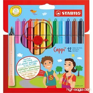 STABILO Cappi Felt-Tip Pen Wallet of 12 - B019DM43NA