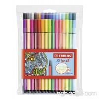 Stabilo Pen 68 Coloring Felt-tip Marker Pen 1 mm - 30-Color Wallet Set - B00HH32BH8