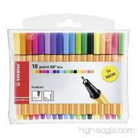 Stabilo Point 88 Mini Fineliner Pens  Set of 18  Multicolored - B00OAX1TPI