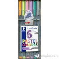 Staedtler Triplus Fineliner Pens 6-Color Pastel Set - B005HJQFV2