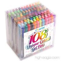 Courise 108 Unique Colors Gel Pens Gel Pen Set For Adult Coloring books Drawing Painting Doodling - B01KE3E89G