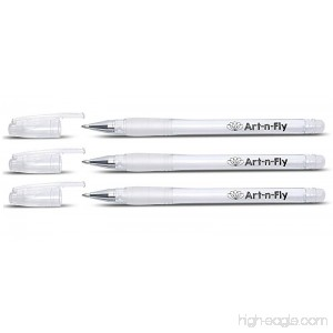 Fine Point White Gel Pen For Artists With Archival Ink Fine Tip Sketching Pens Drawing Illustration (3 White) - B071NPPJ37