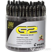 PILOT G2 Premium Gel Roller Pen  Retractable and Refillable  48 Piece Tub  Black  Bold Point (5673A) - B01N157HLM