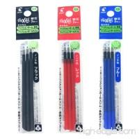 Pilot Gel Ink Refills for FriXion Ball 3 Gel Ink Multi Pen & FriXion Ball Slim 0.5mm 3 Color Black/Blue/Red Ink 3 Packs 9 refills total Value Set - B071LB36LS