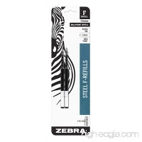 Zebra F-Series Ballpoint Stainless Steel Pen Refill  Medium Point  1.0mm  Black Ink  2-Count - B001AFLKT4
