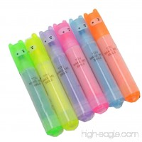 6Pcs Multi-Color Highlighters Markers Pens Fluorescence Pastel Office School Supplies For Bullet Journal Book Note Art Drawing Coloring Highlighting and Underlining - B07CLQ8941