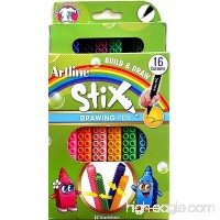Artline ETX Stix Connecting Drawing Pens - Pack 16 - B01D1UKFLY