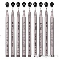 Black Micro-line Pens for Drafting - Ultra Fine Point Technical Drawing Pen Set  Anti-Bleed Fineliner Ink Pen for Multiliner  Illustration Anime Office  Sketching  Scrapbooking  Signature  9 Size/Set - B078W5THT8