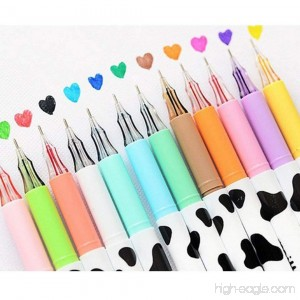Colors Pens Cartoon Fineline Assorted Colors Pens Set Coloring Rollerball Pens 0.38mm School Office Gel Ink Pen Anti Skip for Drawing Painting Adult Coloring Book Marker Pen Scrapbook Pens 12-PCS - B01K4CZC5G