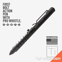 GP 1945 Bolt Action Pen -Machined Titanium/ Aluminum Multi-tone Whistle Breaker integrated. USA. - B0795BZ42Y