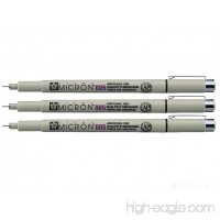 Sakura Pigma Micron - Pigment Fineliners - 0.05mm - Black [Pack of 3] - B01FYDJWTC