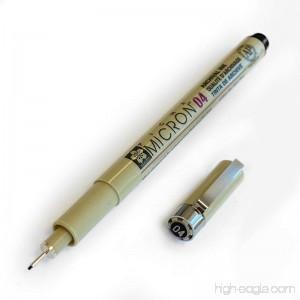 Sakura Pigma Micron - Pigment Fineliners - Single - 0.4mm - Black - B01FY2V5Z2