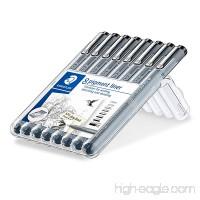 Staedtler 8 Pigment Liner Fineliner Pens with Assorted Line Width - Black - B01MRXOBVY