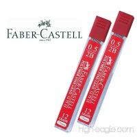 Faber-Castell Lead Refills 0.5mm 2B Black 12 Leads 75mm. [Pack of 2] - B00VHG7NLK