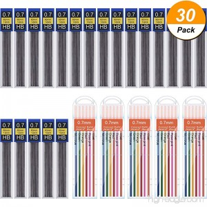 Hestya 360 Pieces Lead Refills Mechanical Pencil Refills 0.7 mm HB Includes Colored Leads and Black Leads with Convenient Dispensers - B07BKQXRYG