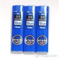 Pentel Ain Stein pencil Lead Rifll 0.5mm BLUE X 3 Pack/total 60 Leads (Japan Import) [Komainu-Dou Original Package] - B00NRYL6TA