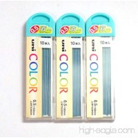 Uni Color Pencil Lead 0.5 mm Soft Blue 10 Leads X 3 Pack/total 30 Leads (Japan Import) - B00NT9D3PI