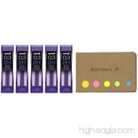 Uni NanoDia Mechanical Pencil Leads 0.3mm 2H 5-Pack total 75 Leads Sticky Notes Value Set - B076J6Y1HQ