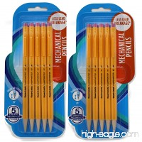 Papermate 3037631PP SharpWriter Mechanical Pencils  Twistable Tip  0.7 Mm  2 Blisters of 5 Pencils  Total 10 Pencils - B071Y7P2TV