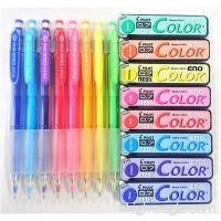 Pilot Color Eno 0.7mm Automatic Mechanical Pencil 8 Color & 0.7mm Lead Refill 8-Box Full Set with Original Vinyl Pen Case - B01LZUZIP1
