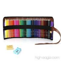 50 Piece Artist Grade Color Pencils Set with Pencil Sharpener and Eraser - B078WPYGMP