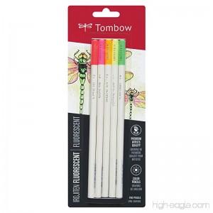 American Tombow 61532 Tombow Irojiten Colored Pencils Fluorescent 5-Pack - B00DRIQIYE