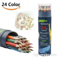 Colored Pencils Safe Bright Color Watercolor Pencil 24 Count  Easy Coloring  Sturdy Not Easy Breaking  Great for Sketch  Art  Coloring Books  with Cylinder Package (24 colors) - B078N7T593