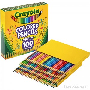 Crayola 688100 Long Barrel Colored Woodcase Pencils 3.3 mm 100 Assorted Colors/Set - B075Y2THH9