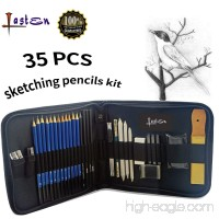 Lasten Drawing Pencils for Artists Art Supplies Kit for Artists Sketch Pencils Set Graphite Pencils 35 Pcs Shading Pencils for Students Artists Drawing Beginners - B01LZGFYGC