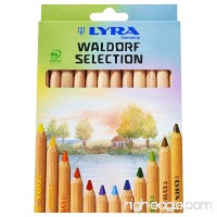 LYRA Waldorf Selection Giant Triangular Colored Pencils Unlacquered 6.25 Millimeter Cores Assorted Colors 12 Count (3711121) - B004CRAKES