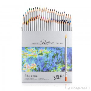 Marco Raffine Fine 48 Colors Art Drawing Pencil 7100-48CB Set Non-toxic ASTM Tin Wooden Painting Artist Sketching Craft Graphite - B01M33J6IL