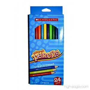 Scholastic Color Pencils 3.3 mm Assorted Colors Pack Of 24 - B00HF7OX04