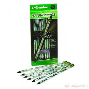 72 Pencils Total (6 packs of 12 count pencils)Dixon Ticonderoga Black Wood-Cased Black Writing No. 2 Soft Noir Pencils Holographic Design - B001DL8P6Q